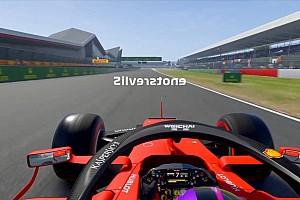 Video: Een ronde Silverstone in omgekeerde richting in F1 2019