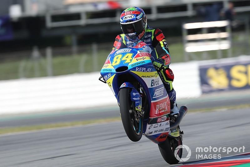 Moto3, Assen, Libere 2: Kornfeil beffa Arbolino a tempo scaduto