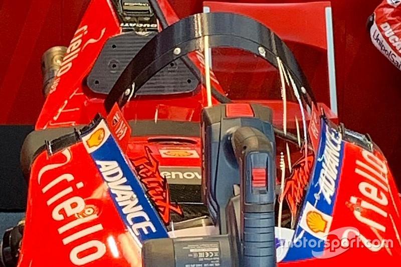 Ducati на тестах в Барселоне удивила всех «мотоциклетной Halo»