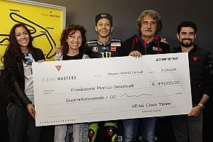 Valentino istruttore di guida per beneficenza: donati 49 mila euro alla Fondazione Simoncelli