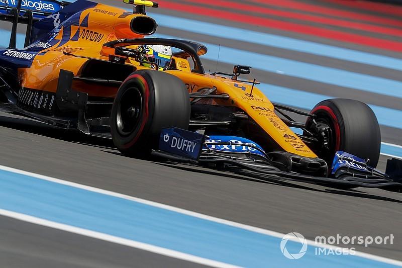 VÍDEO: Norris cai de 7º para 9º na última volta do GP da França