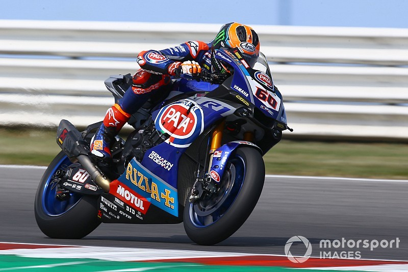 Misano WSBK: Van der Mark tops practice before big crash