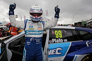 Knockhill BTCC: Plato marks 500th start with first win of 2016