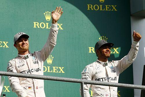 Rosberg tried to ignore Hamilton's progress in Spa