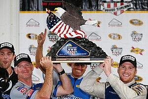 Chris Buescher takes shock first win in Pocono NASCAR race