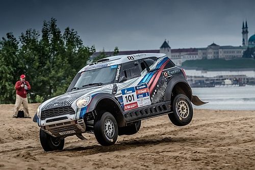 MINI ALL4 Racing perfectly placed after Silk Way Rally's spectacular opening Super Special Stage