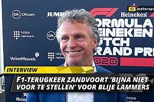 """Lammers euforisch over GP in Zandvoort: """"Bijna niet voor te stellen"""""""
