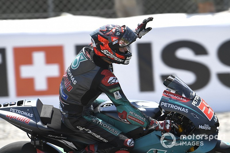 Assen MotoGP: Quartararo tops FP1, Lorenzo crashes