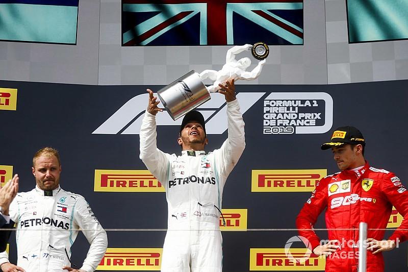 Хэмилтон выиграл гонку во Франции, лидируя от старта до финиша