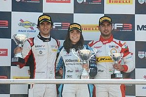 Brands Hatch British F3: Mahadik, Maini finish on podium together