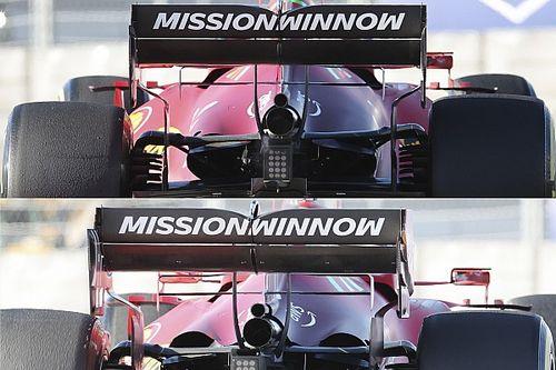 Технический брифинг: отличия Ferrari SF21 с разными моторами