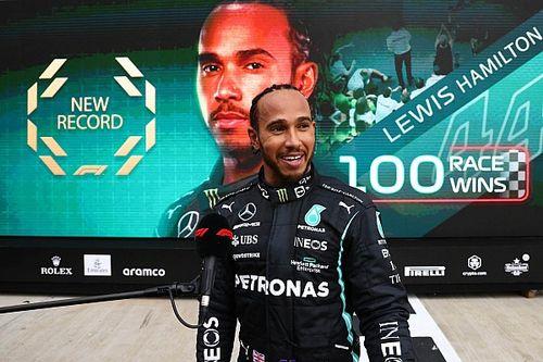 Tembus 100 Kemenangan, Valentino Rossi Beri Selamat Lewis Hamilton