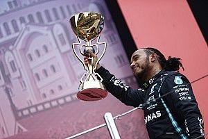 Fotogallery F1: il 100esimo trionfo di Lewis Hamilton in Russia