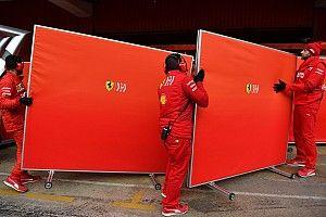F1-teams mogen wagens niet langer afschermen tijdens tests
