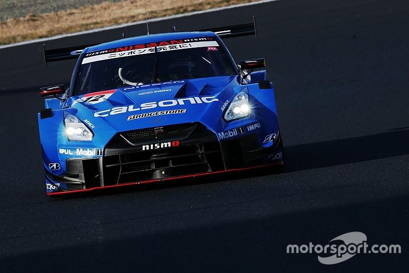 岡山公式テスト1日目午後|青い新幹線が復活! カルソニックIMPUL GT-Rが驚速タイムをマーク