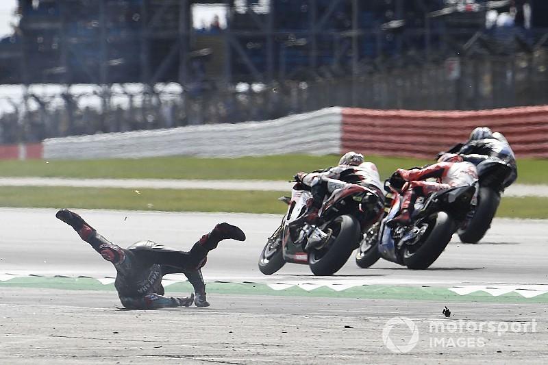 """Quartararo: """"Rins perdió la rueda trasera, corté y la moto se volvió agresiva"""""""