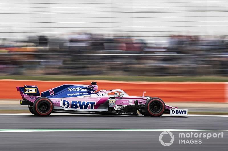Pérez perdió puntos en Silverstone por un incidente