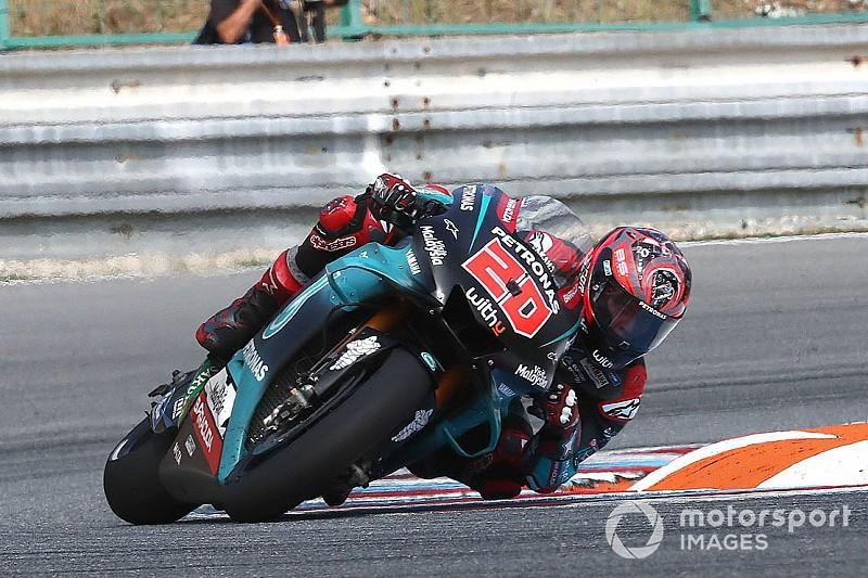 Quartararo lidera la ofensiva de Yamaha en el test de Brno