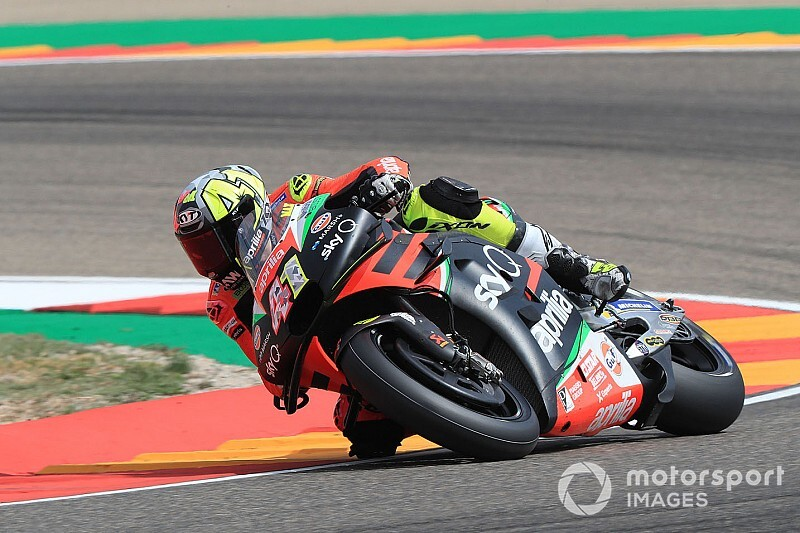 "Espargaro ""almost crashed three times"" tailing Marquez"
