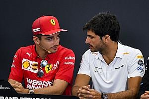 Sainz olyan gyors volt, hogy Leclerc feladta az üldözését