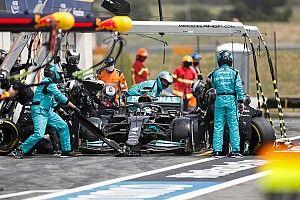 Mercedes se vio forzado a llamar a Bottas primero a pits