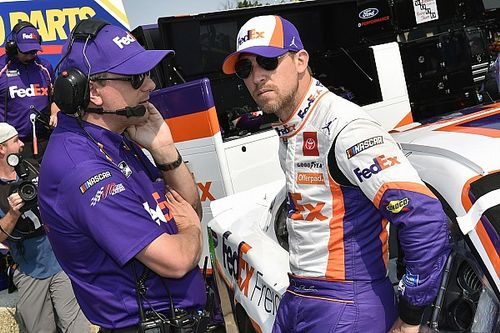 Denny Hamlin 'in a good place' despite missing out on win