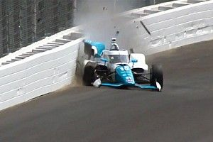 Palou suffers heavy shunt in Indy qualifying