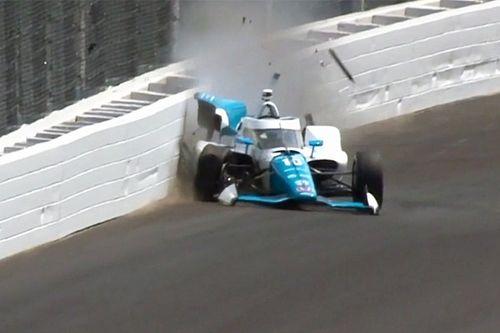 VIDEO: El accidente de Palou en la clasificación de Indy 500