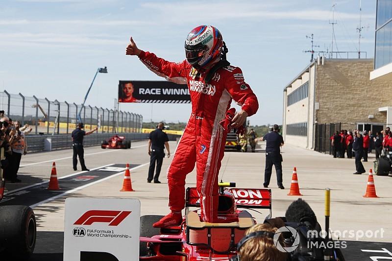 Raikkonen wint in Austin voor sensationele Verstappen, Hamilton nog geen kampioen