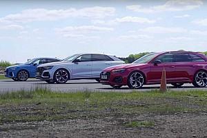 Videó: három Audi RS-modell feszül egymásnak egy házi bajnokságban
