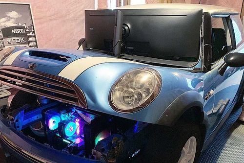 Un MINI Cooper S convertido en un simulador de carreras