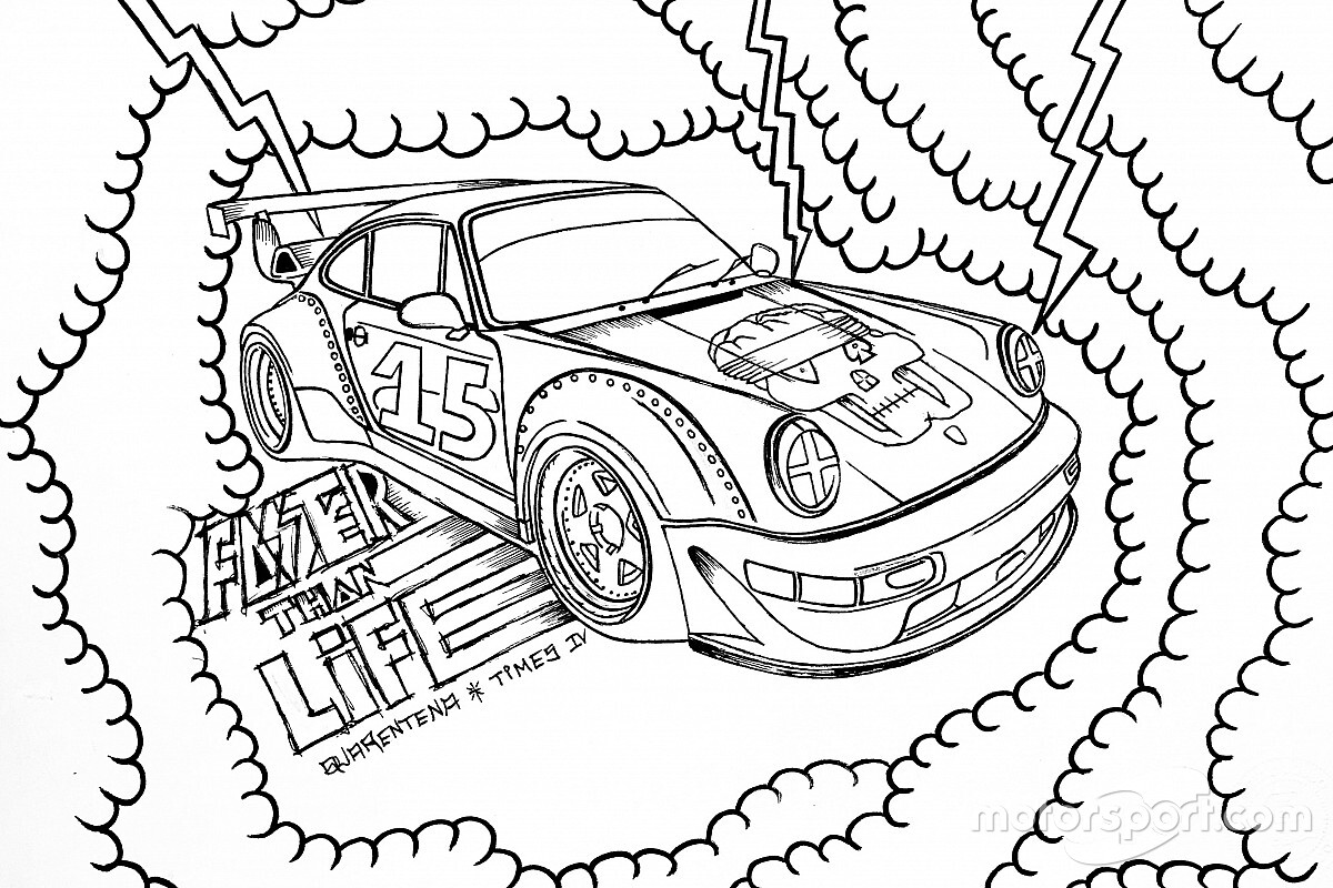 Artista plástico homenageia aniversário da Porsche Cup Brasil com arte interativa