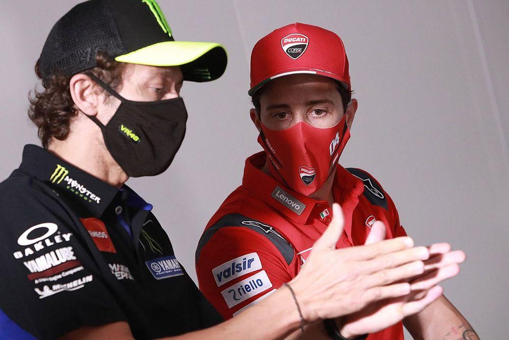 """Rossi: """"Estaría muy contento de tener a Dovizioso de compañero"""""""