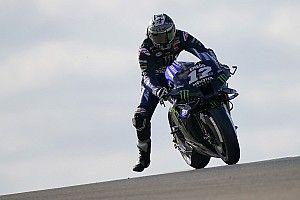 MotoGP Aragon FT1: Yamaha-Trio vorn - viele Stürze bei kühlem Wetter