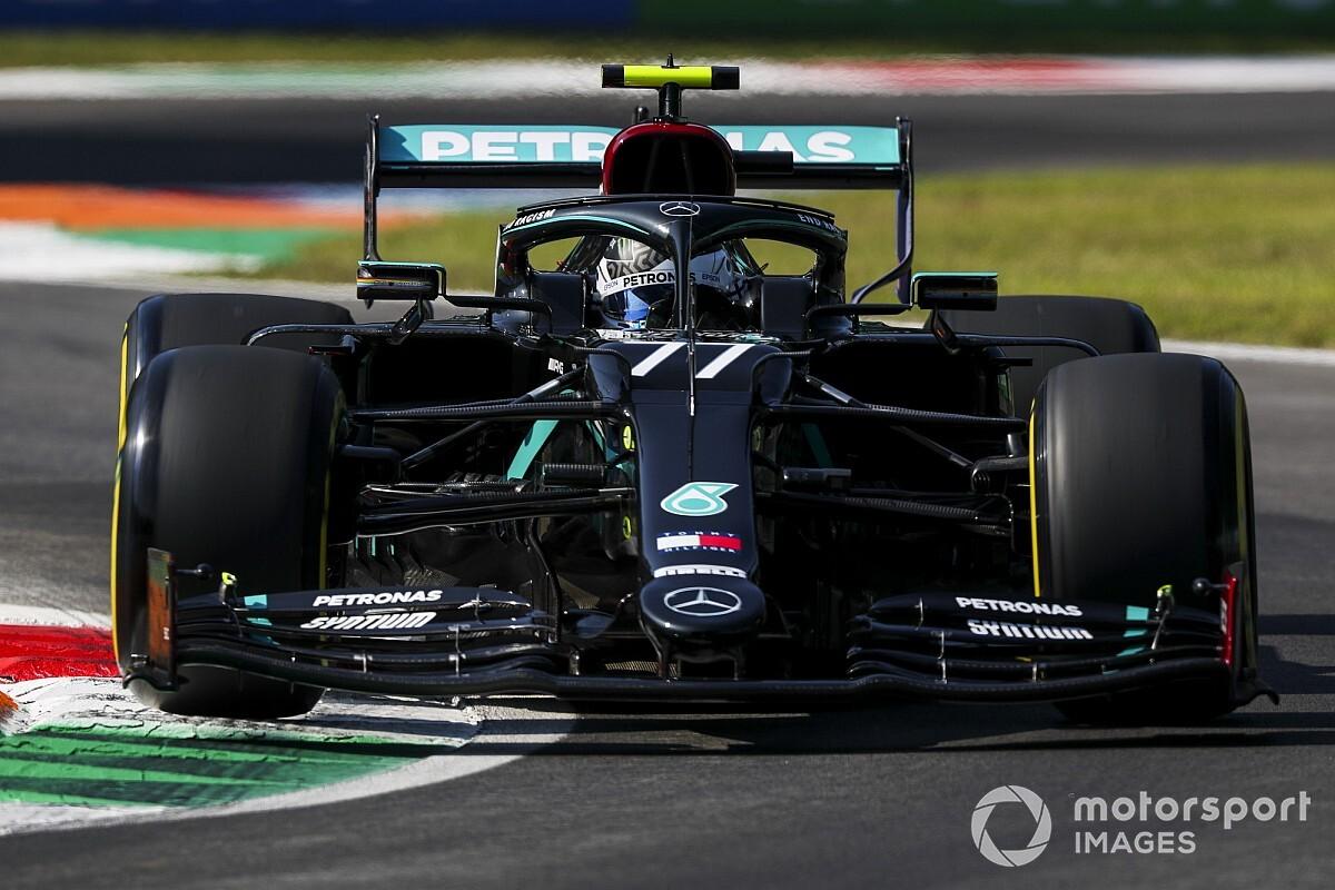 Italian GP: Bottas quickest in FP1 as Verstappen crashes