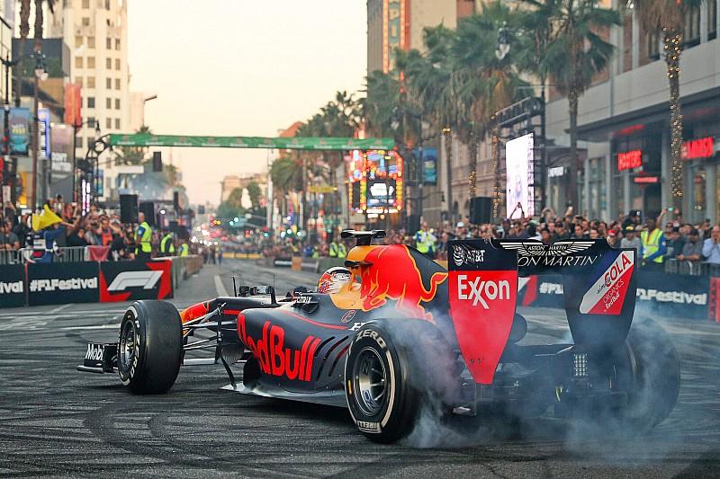 Látványos videók a nagy F1-es utcai parádéról Amerikából