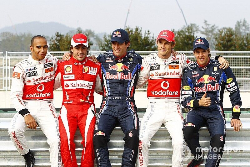 Los 10 mejores pilotos de la década de F1