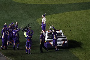 Dale Jr. defends Hamlin, compares it to Waltrip '01 celebration