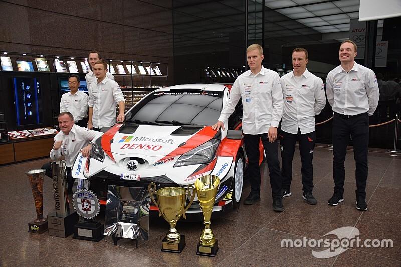 WRC王者タナク来日! トヨタのドライバーが集結しヤリスの進化を称賛