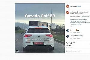 Sikerült az új Volkswagen Golf R-t is lekapni álca nélküli teszten