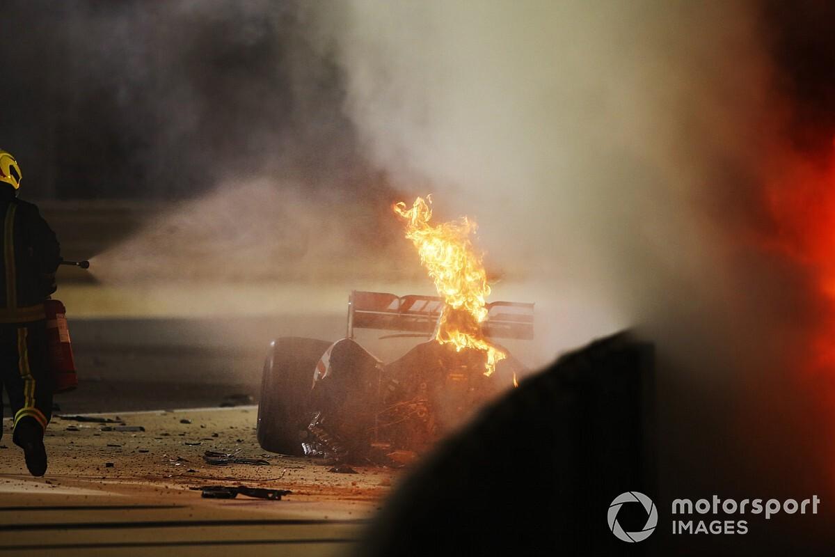 Grosjean'ın kazası sonrası tüm pilotlar şok içinde!