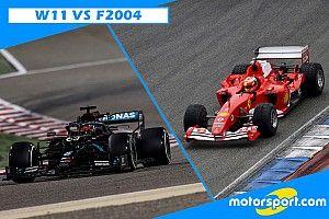 Confronto tra regine: Ferrari F2004 vs Mercedes W11