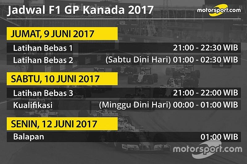 Jadwal lengkap F1 GP Kanada 2017