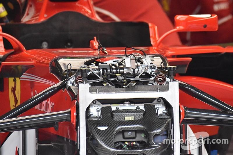 Ferrari: ecco il nuovo terzo elemento della sospensione anteriore!