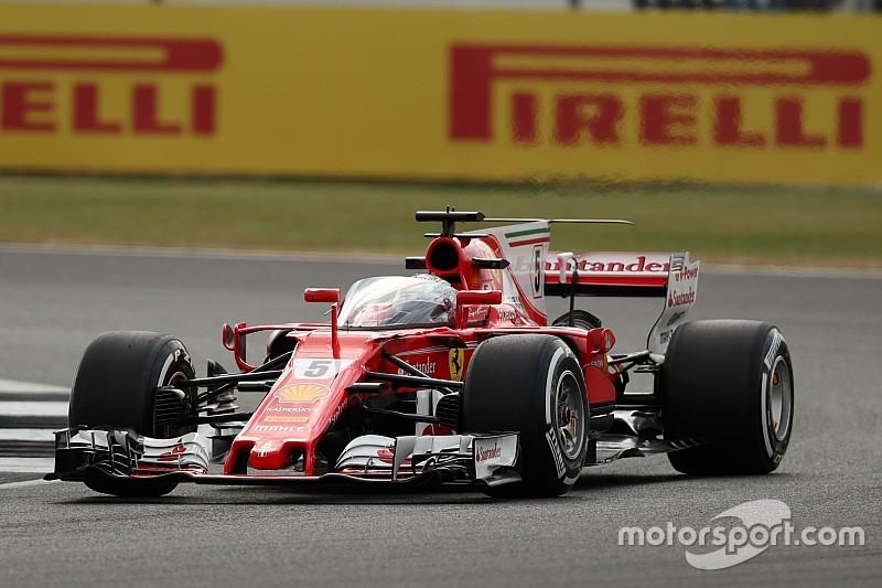 Ferrari: solo un giro per Vettel con lo Shield sulla SF70H