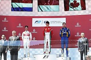 F2 Baku: Gelael picu red flag, Leclerc juara feature race