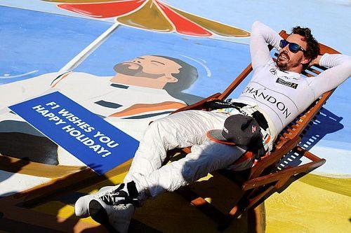 Alonso va a punti in Ungheria, poi festeggia con... la sdraio!