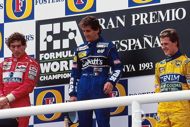 Un podio irrepetible en la F1: Senna, Prost y Schumacher