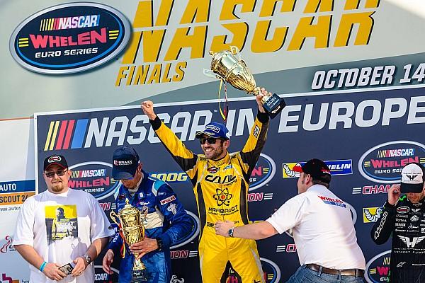 NASCAR Euro Alon Day celebrates winning Whelen Euro championship