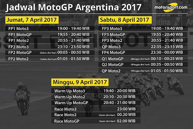 Jadwal lengkap MotoGP Argentina 2017